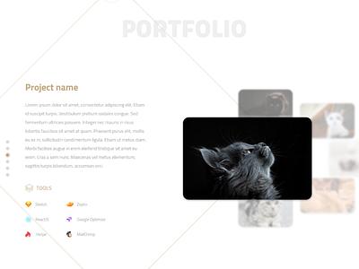 Portfolio Section Prototype portfolio desktop experiment ui prototype design