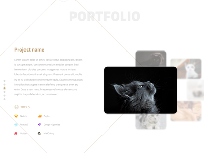Portfolio Section Prototype portfolio desktop experiment ui prototype design