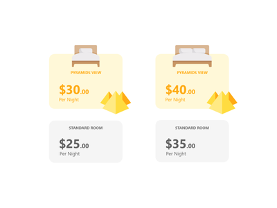 Motel Pricing Table ui price table