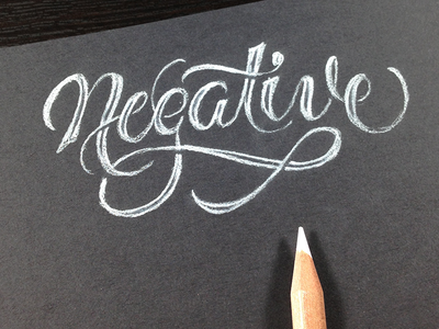 Negative lettering script type typography sketch pencil white charcoal negative experiment
