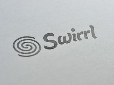 Swirrl Sketch lettering script type typography logo branding logotype sketch final swirrl logomark brush