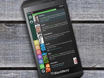 Blaq for BlackBerry 10 Now Available ui design social twitter blaq blackberry bb10 z10 launch