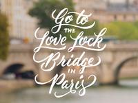 Love Lock Bridge | Venture #BucketList