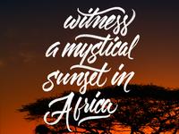 African Sunset | Venture #BucketList