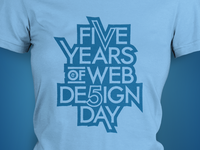 Five Years of Web Design Day Tee