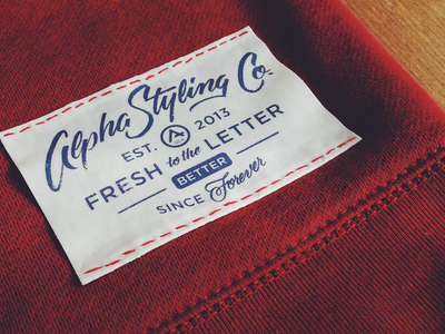 Label Play lettering scripts type typography labels alpha streetwear apparel goods