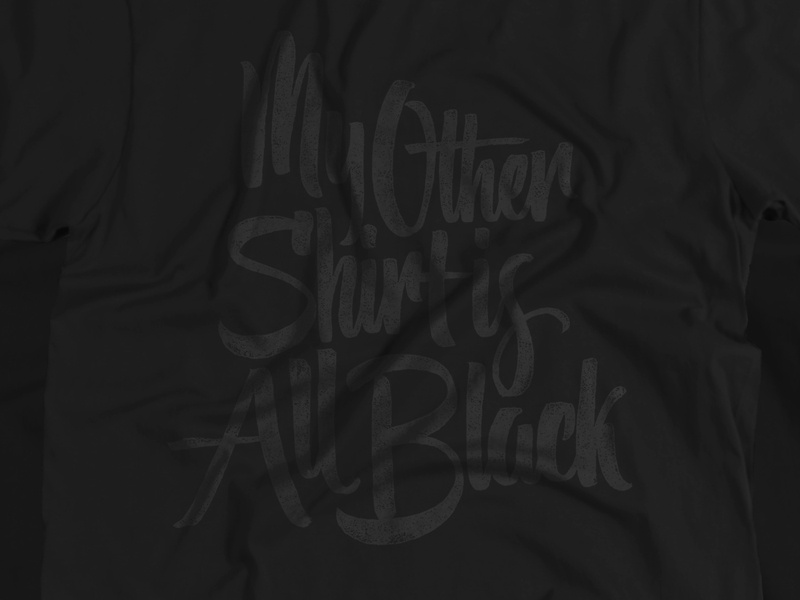 The Other Shirt lettering scripts type typography calligraphy brush pen cotton bureau goods