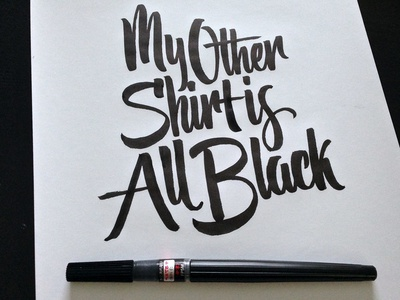 The Other Shirt Brush Pen Lettering lettering scripts type typography calligraphy brush pen cotton bureau goods