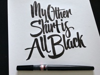 The Other Shirt Brush Pen Lettering
