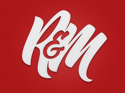 R&M Monogram lettering scripts type typography calligraphy brush pen logotype branding monogram