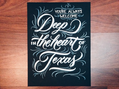 Deep in the Heart lettering scripts type typography calligraphy brush pen fathers day dad