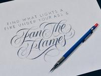 Fan the Flames Sketch