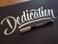 Dedication Brush Sketch