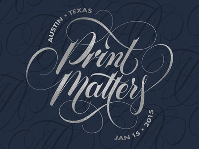 Print Matters atx lettering scripts type typography cartouche vector print matters mamas sauce french paper co austin