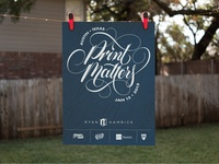 Print Matters Poster