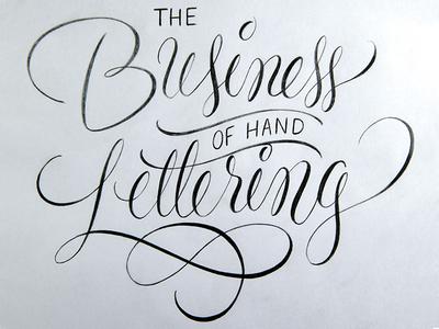 The Business of Handlettering Workshop