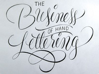 The Business of Handlettering Workshop