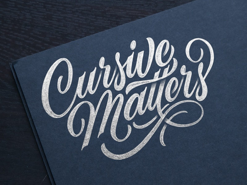 Cursive Matters education plans cursive sketch script lettering