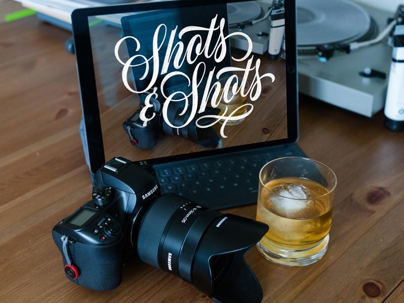 Shots & Shots jameson austin photo walk photography whiskey ipad pro calligraphy script lettering