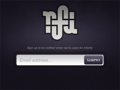 RFI Signup rfi recipe for infamy clothing line signup landing email mailing list
