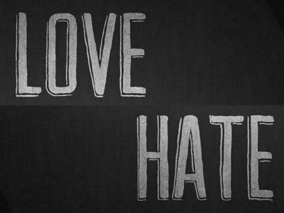 Love / Hate Poster