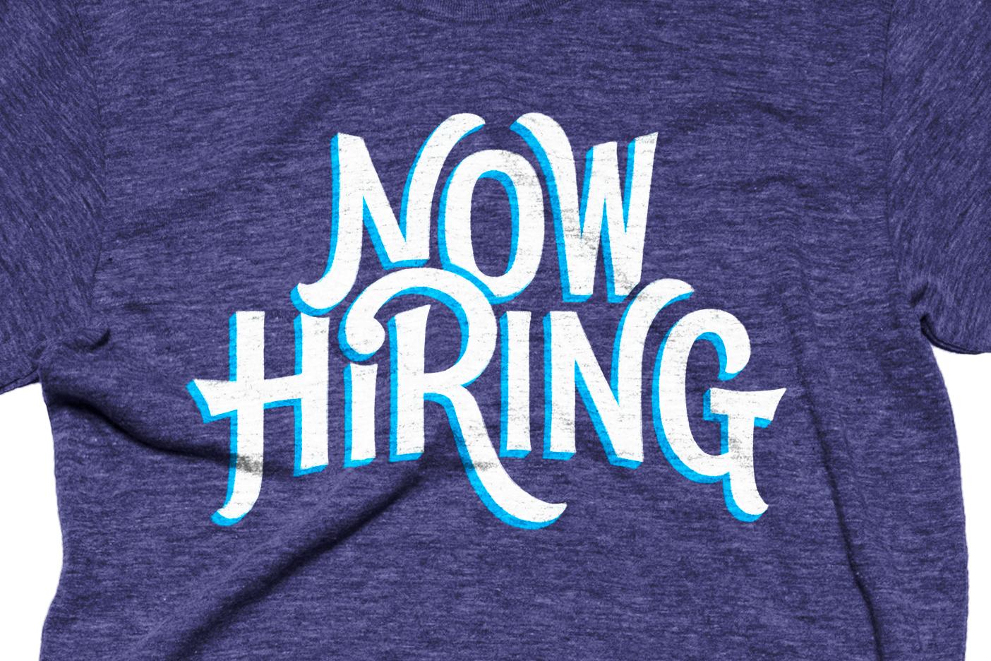 Now hiring v