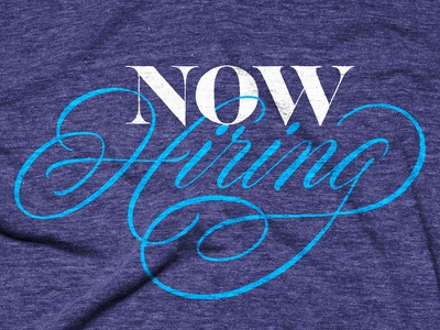 Hire by Google google t-shirts script handlettering lettering