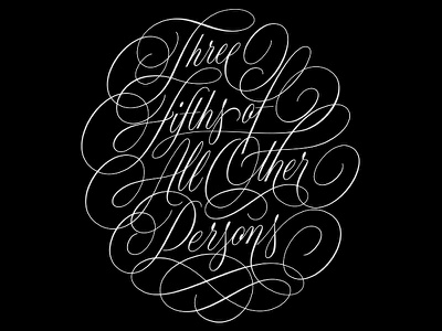 All Other Persons Vector constitution swashes flourishes cartouche vector handlettering lettering