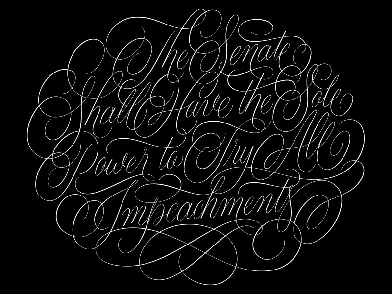 All Impeachments Vector constitution swashes flourishes cartouche vector handlettering lettering