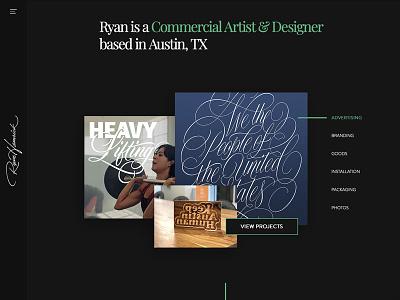 New Site on Wix website web design sponsored wix lettering portfolio