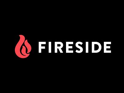 Fireside.fm fireside hosting podcast monogram logotype logo branding lettering