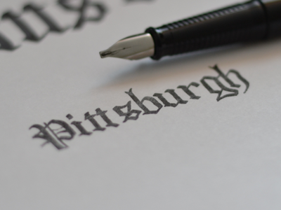 Blackletter Practice type typography logotype pittsburgh blackletter tiny fountain-pen practice lettering