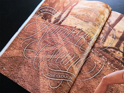 Sports Illustrated - Kangaroo Island flourishes swashes script cartouche print vector sportsillustrated editorial lettering