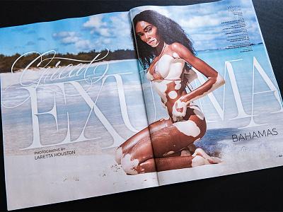 Sports Illustrated - Great Exuma print magazine typography serif script editorial sportsillustrated lettering