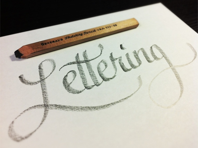 Warming Up lettering type typography script tools pencil sketch calligraphy flat pencil generals
