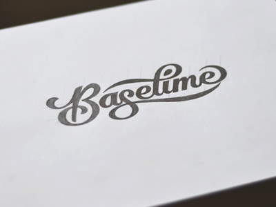 Logotype Sketch lettering type typography branding logo script sketch baselime