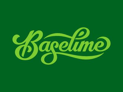 Baselime Vector lettering type typography script branding vector logo baselime