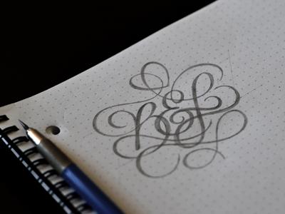 B l monogram
