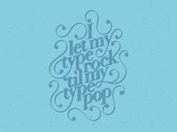 Type Rock Poster