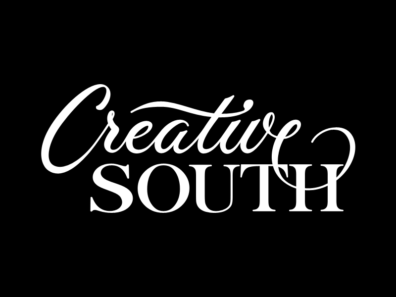 Creative South Final (for real) lettering script branding logotype vector creative-south final
