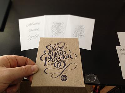 Holstease lettering script type typography artist-series holstee print manifesto tease sketches letterpress greeting cards