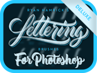 Lettering Brushes for Photoshop (Deluxe) photoshop calligraphy photoshop lettering calligraphy brushes calligraphy deluxe lettering brushes photoshop brushes photoshop brushes lettering