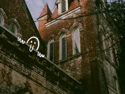 sneak a peak hellow peak texture procreate ipad illustration film camera film photography 35mm church peaking person nose