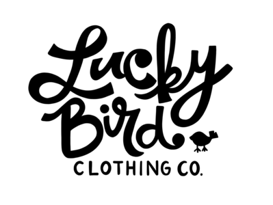 LuckyBird Clothing Co. Hand Drawn Type branding logo type vintage typeface lettering hand lettering hand drawn typography vintage typography vintage type hand drawn type handlettering hand drawn illustration