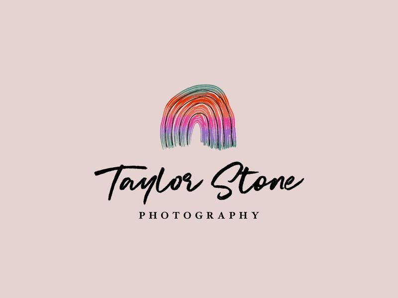 Logo Design texture illustration branding design logodesign branding colorful brand colorful branding colorful handdrawn typography rainbow photography photography logo logo