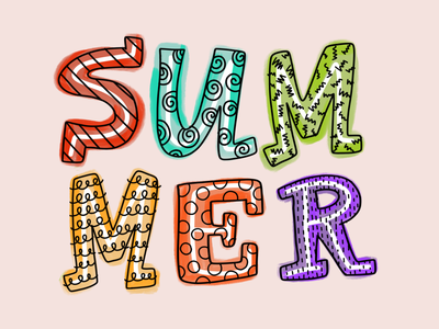 SummerType handdrawnlettering colorful summer party lettering artist handlettering letter handdrawn handdrawn type typography
