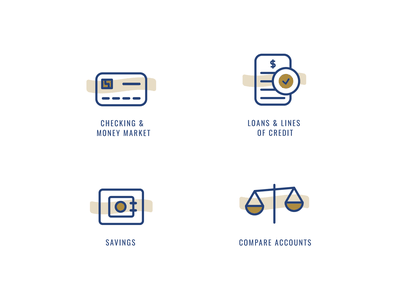 Banking Icons ux vector illustration branding design icon design credit card loans checking bank design banking website bank icon banking bank icons icon