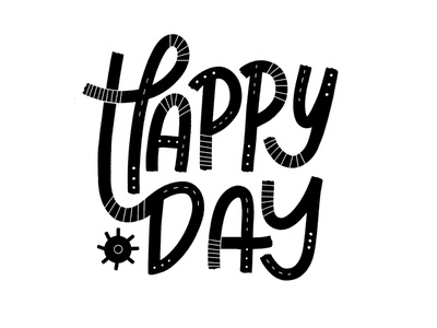 Happy Concept 2 happy day hand lettering hand drawn type happy design vector type typography illustration