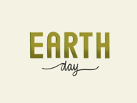 Earth Day Typography