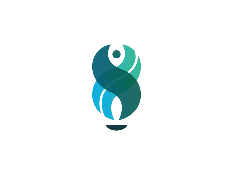 Flame / Torch icon vector branding design torch brand color logo flame logo gradient green blue flame